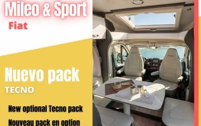 Le pack Tecno disponible avec les camping-cars MILEO et SPORT FIAT de la gamme 2022!