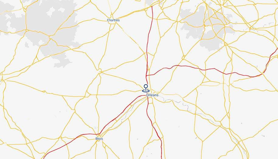 Carte accès Iveco Orléans